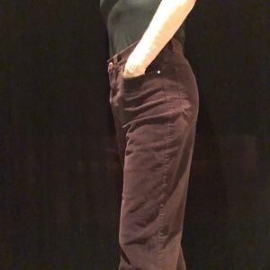 Ralph Lauren Maroon Corduroy Pant, Size 8
